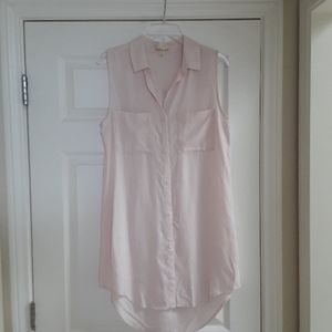 Cloth & Stone Pink Sleeveless Shirt Dress or Tunic